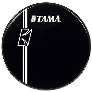 Tama 24 inch Hyperdrive Logo Drum Head, Black