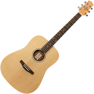 Ashton Acoustic Solid Top Guitar, Matt Natural
