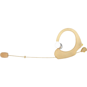 Que Audio Headworn Mic with IEM, Beige