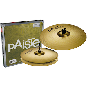 Paiste 101 Cymbal Pack 13 inch Hi Hats and 18 inch Crash/Ride