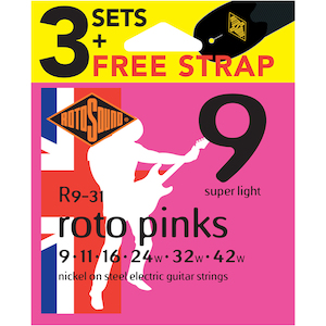 Rotosound 9-42 Electric Strings 3-Pack