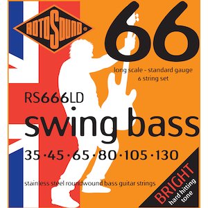 Rotosound 6-String Bass Strings 35-130 Stainless Steel