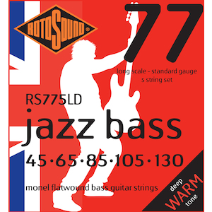 Rotosound 5-String Bass Strings 45-130 Monel Flatwound