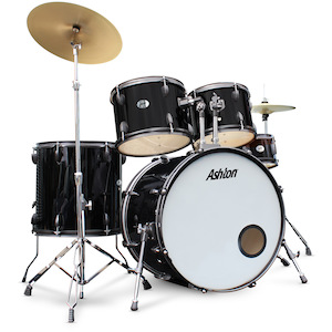 Ashton 5-Piece Rock Drum Kit, Black