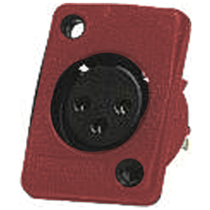 Whirlwind WC3FQ XLRF Connector Red