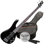 Ashton Bass Guitar Pack, Black AB4BK