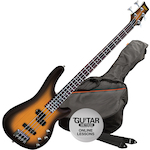 Ashton Bass Guitar Pack, Tobacco Sunburst AB4TSB