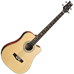 Ashton ACB100CEQ  Electric Acoustic Bass Guitar, Natural ACB100CEQNTM