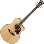 Ibanez AE205JR AE Short Scale Acoustic Electric Guitar, Open Pore Natural AE205JROPN