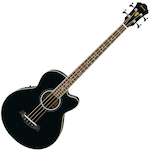 Ibanez AEB8E Acoustic Electric Bass Guitar, Black AEB8EBK