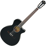 Ibanez Acoustic/Electric Guitar, Black Flat AEG8TNEBKF