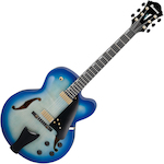 Ibanez AFC155 Contemporary Archtop Hollowbody Electric, Jet Blue Burst AFC155JBB