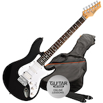 Ashton AG232 Electric Guitar Pack, Black AG232BK