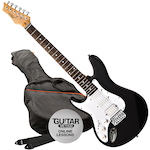 Ashton AG232  Electric Guitar Pack Left Handed, Black AG232LBK