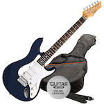 Ashton AG232 Electric Guitar Pack, Dark Blue AG232TDB