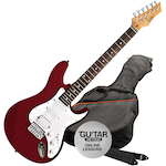 Ashton Electric Guitar Pack, Transparent Red AG232TRD