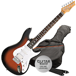 Ashton AG232  Electric Guitar Pack, Tobacco Sunburst AG232TSB