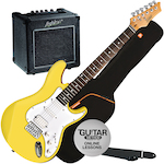 Ashton Electric Guitar Pack with GA10 Amp yellow AG232YL-GA10