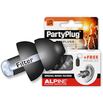 Alpine ALPPARTYPLUG  Party Plug Pro Ear Plugs, Black ALPPARTYPLUGB