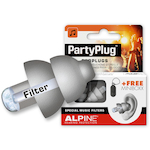 Alpine Party Plug Pro Ear Plugs, Silver ALPPARTYPLUGS