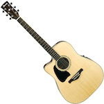 Ibanez Artwood Acoustic/Electric Guitar Solid Spruce Top Left Hand, Natural AW300LECENT