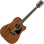 Ibanez AW54CE Artwood Acoustic/Electric Guitar Solid Mahogany Top, Natural AW54CEOPN