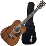 Ibanez AW54 MINI Artwood 3/4 Acoustic Guitar Solid Mahogany Top, Natural AW54MINIGBOPN