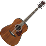Ibanez Artwood Acoustic Solid Mahogany Top, Natural AW54OPN