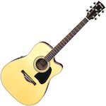 Ibanez Artwood Acoustic/Electric Guitar Solid Spruce Top, Natural AW70ECENT