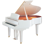 Yamaha C1X PWH C1 Grand Piano Polished White Finish C1XPWH