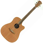 Cole Clark Acoustic Electric Guitar Redwood Top Blackwood B&S CCFL2ECRDBL