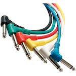 Whirlwind 12 inch Right Angle Patch Cable 6 pack CPML12IN