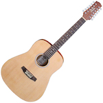 Ashton D2012 12 String Guitar Natural Matte Finish D2012NTM