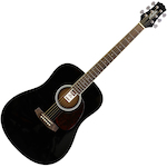 Ashton D20 BK Acoustic Guitar, Black D20BK