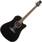 Ashton D20CEQ Acoustic Electric Black D20CEQBK