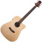 Ashton D20SCEQ Acoustic Electric Solid Top Guitar, Matt Natural D20SCEQNTM