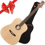 Ashton D20S Solid Top Acoustic Guitar and Bag, Natural Matt D20SNTM-ARM650W