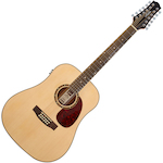 Ashton Acoustic Electric 12-String Guitar, Matt Natural D2512EQNTM