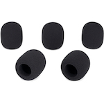 Windsock Replacement for Que Audio Microphones, 5 pack, Black DAWSHL