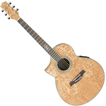 Ibanez Exotic Wood Acoustic/Electric Left Hand, Ash Natural EW20LASENT