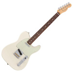 Fender American 011-3060-705 Professional Telecaster Electric Guitar Olympic White With Case FEN0113060705