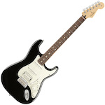 Fender Player FEN0144523506 Stratocaster 6 String Electric Guitar, HSS Pau Ferro, Black FEN0144523506