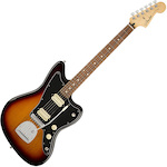 Fender Player FEN0146903500 Jazzmaster 6 String Electric Guitar, Pau Ferro Fingerboard, 3-Color Sunburst FEN0146903500