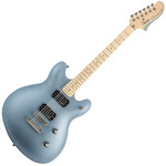 Fender FEN0370470583 Contemporary Active 6-String Semi-Hollow-Body Electric Guitar, Ice Blue Metallic FEN0370470583