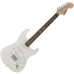 Fender 037-0600-501 Affinity Squier Stratocaster Electric Guitar Olympic White FEN0370600501