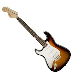 Fender FEN0370620532 Squier Affinity Series Stratocaster Left-Handed 6-String Electric Guitar, Brown Sunburst FEN0370620532