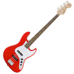 Fender Squier 037-0760-570 Affinity Series Jazz Bass Guitar Race Red FEN0370760570