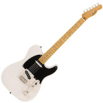 Fender Squier 037-4030-501 Classic Vibe 50s Telecaster Electric Guitar White Blonde FEN0374030501