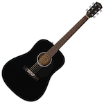 Fender CD-60S Dreadnought Acoustic Guitar, 20 Frets, 'Easy-to-Play' Shape Neck, Rosewood Fingerboard, Gloss, Black FEN0970110006
