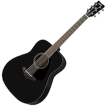 Yamaha Solid Top Acoustic Guitar, Black FG800BL